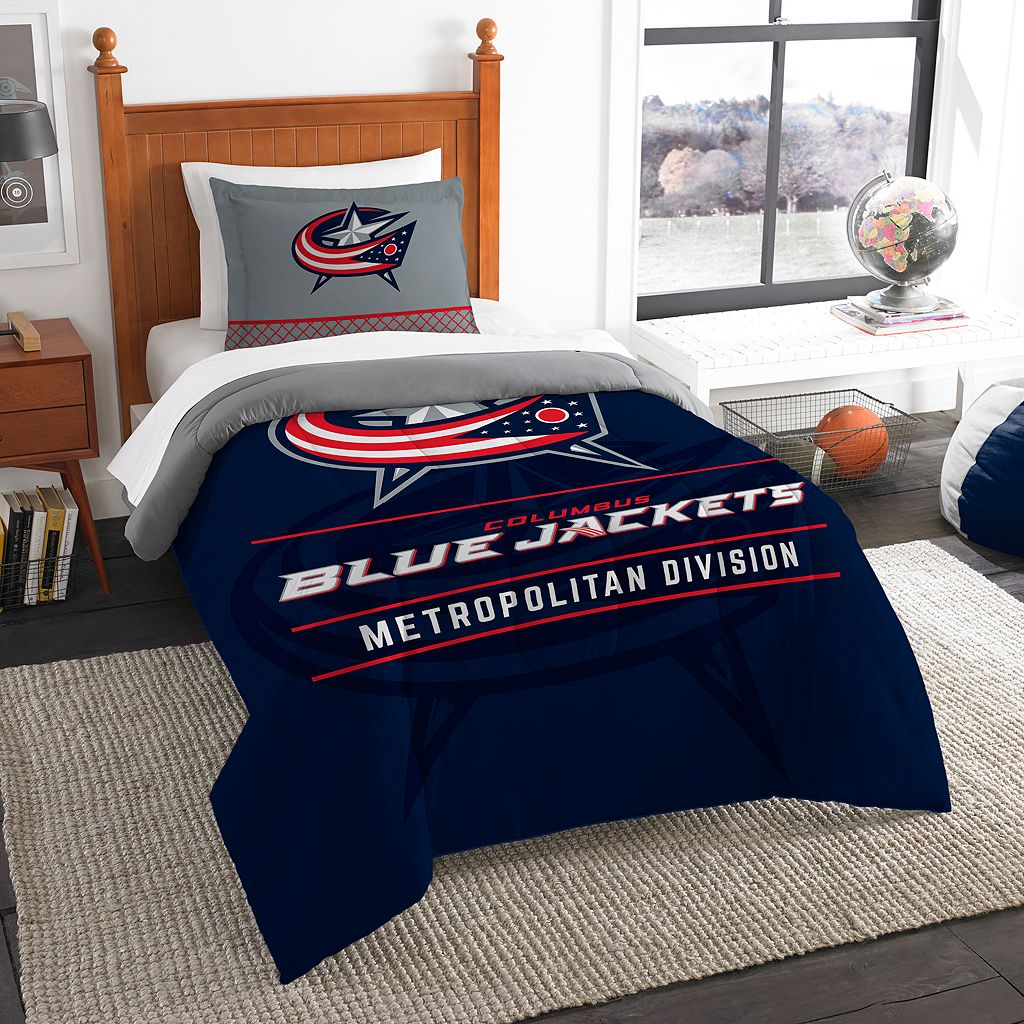 Columbus Blue Jackets Draft Twin Comforter Set by Northwest