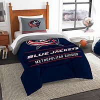 Columbus Blue Jackets Draft Twin Comforter Set by Northwest