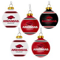 Forever Collectibles Arkansas Razorbacks 5-Pack Shatterproof Ball Ornaments