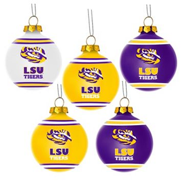 Forever Collectibles LSU Tigers 5-Pack Shatterproof Ball Ornaments