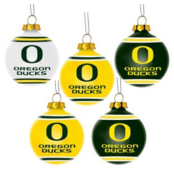 Forever Collectibles Oregon Ducks 5-Pack Shatterproof Ball Ornaments