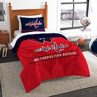 Washington Capitals Draft Twin Comforter Set by Northwest