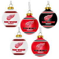 Forever Collectibles Detroit Red Wings 5-Pack Shatterproof Ball Ornaments