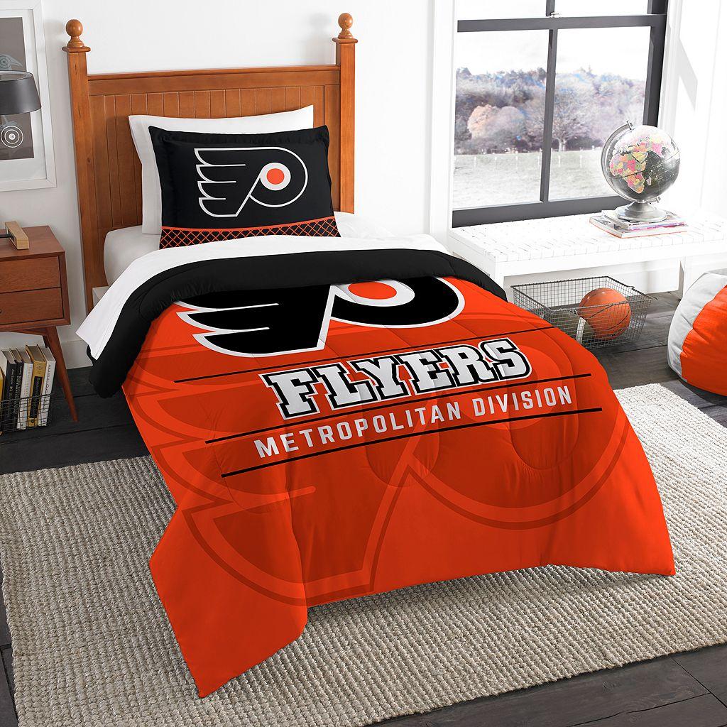 Philadelphia Flyers Draft Twin Comforter Set by Northwest
