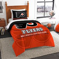 Philadelphia Flyers Draft Twin Comforter Set by Northwest