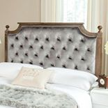 Safavieh Rustic Wood Tufted Velvet Headboard