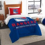 New York Rangers Draft Twin Comforter Set by Northwest