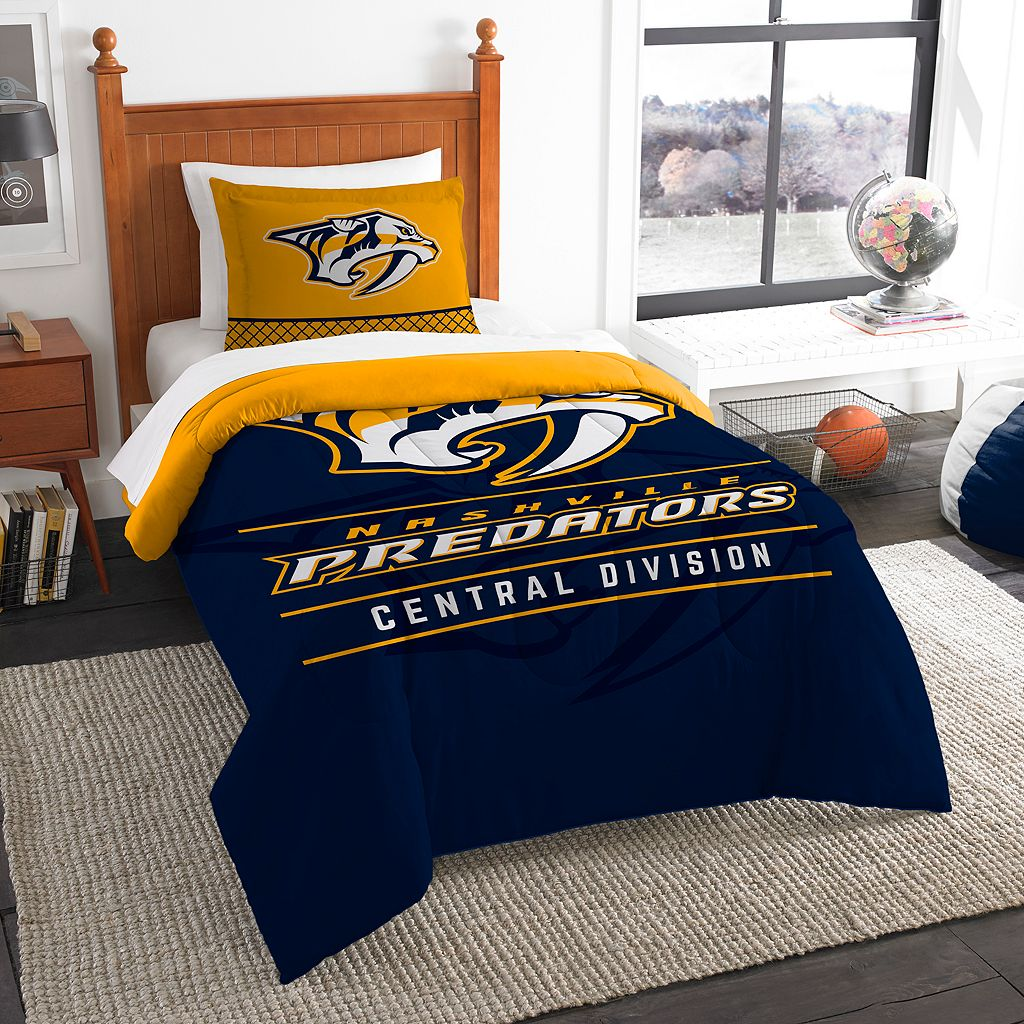 Nashville Predators Draft Twin Comforter Set by Northwest