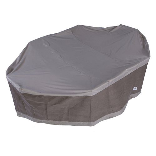 Duck Covers Elegant 127-in. Rectangle & Oval Patio Table & Chairs Cover