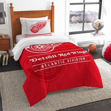 Detroit Red Wings Draft Twin Comforter Set by Northwest