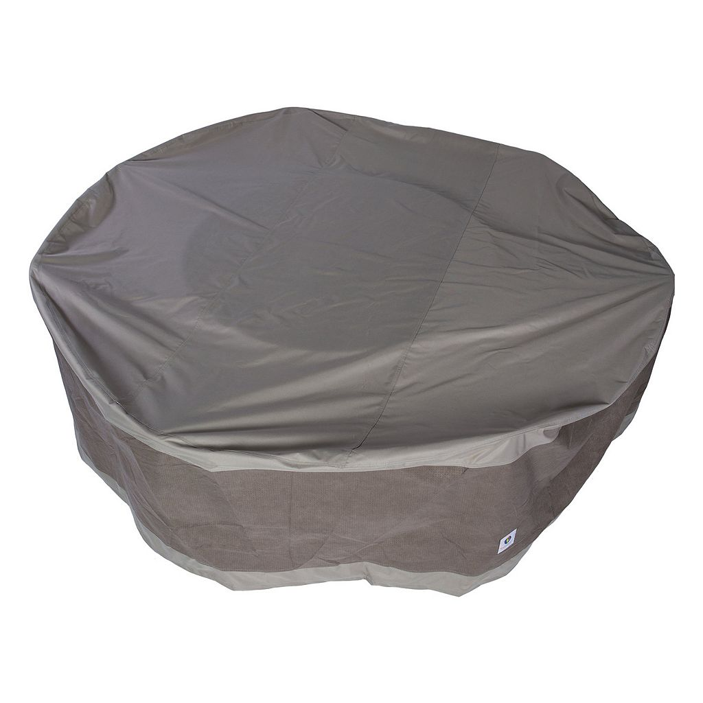 Duck Covers Elegant 108-in. Round Patio Table & Chairs Cover