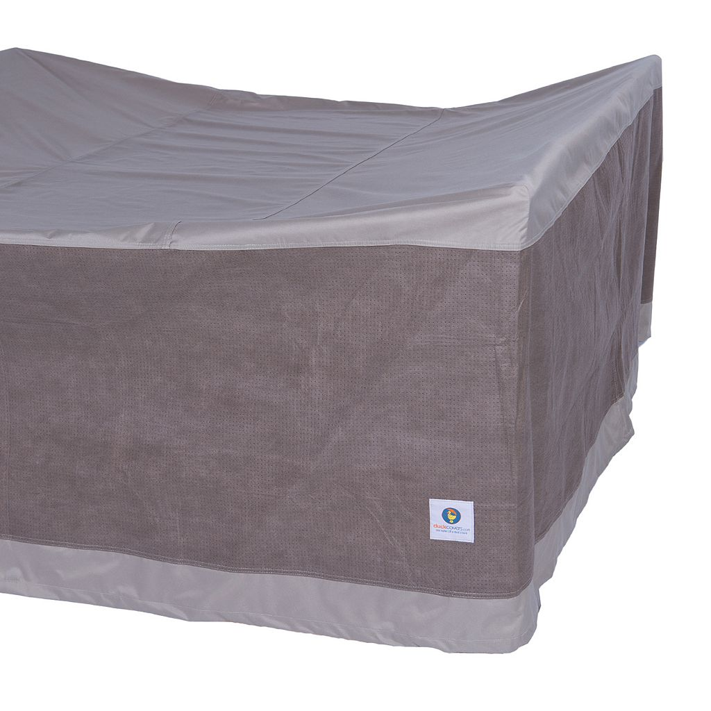 Duck Covers Elegant 92-in. Square Patio Table & Chairs Cover