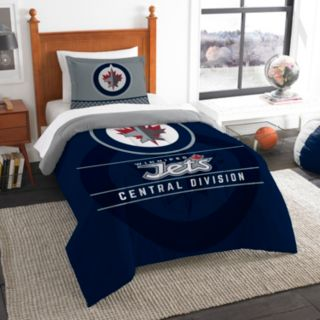 Winnipeg Jets Draft Twin Comforter Set by Northwest