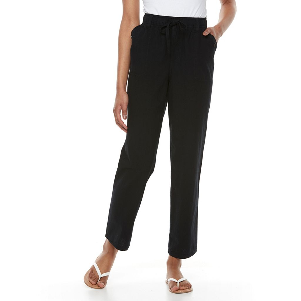 Petite Gloria Vanderbilt Matilda Straight-Leg Sheeting Pants