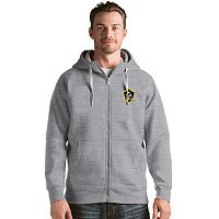 Men's Antigua Los Angeles Galaxy Victory Full-Zip Hoodie