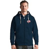 Men's Antigua New England Revolution Victory Full-Zip Hoodie