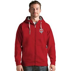 Men's Antigua New York Red Bulls Victory Full-Zip Hoodie