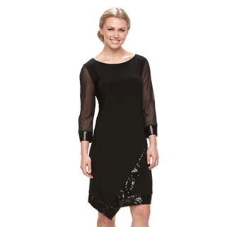Women's Tiana B Asymmetrical Sequin Shift Dress