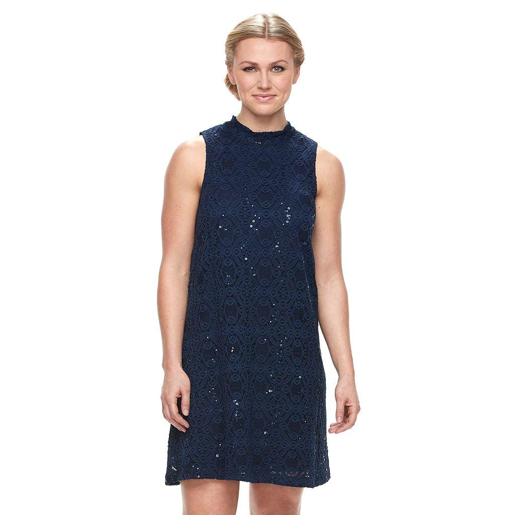 Women's Tiana B Sequin Lace Shift Dress