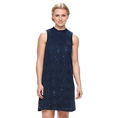 Women's Tiana B Sequin Lace Shift Dress