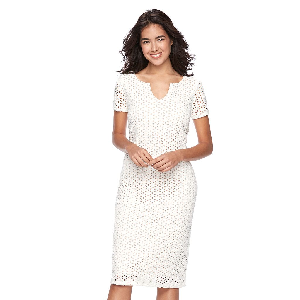 Women's Ronni Nicole Eyelet Sheath Dress