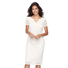 Women's Ronni Nicole Eyelet Sheath Dress