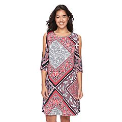 Women's Ronni Nicole Paisley Cold-Shoulder Shift Dress