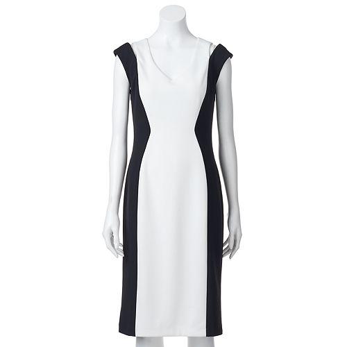 Women's Ronni Nicole Cold-Shoulder Colorblock Sheath Dress