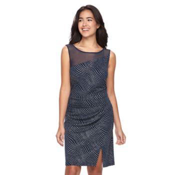 Women's Scarlett Ruched Glitter Sheath Dress