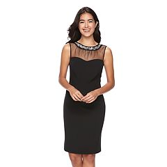 Women's Scarlett Embellished Illusion Sheath Dress