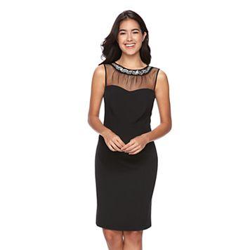 Women's Scarlett Embellished Illusion Sheath Dress