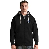 Men's Antigua San Jose Earthquakes Victory Full-Zip Hoodie