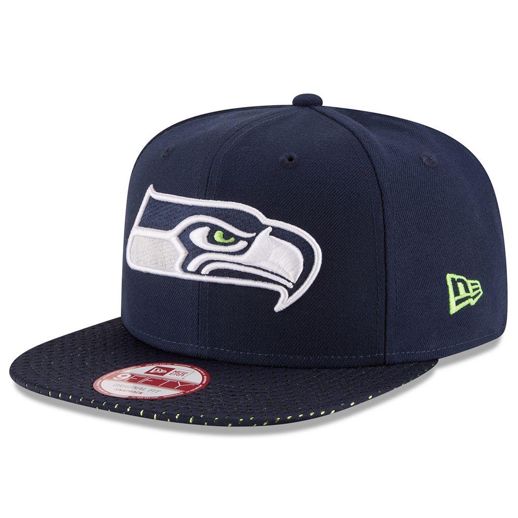 Adult New Era Seattle Seahawks 9FIFTY Shine Through Snapback Cap