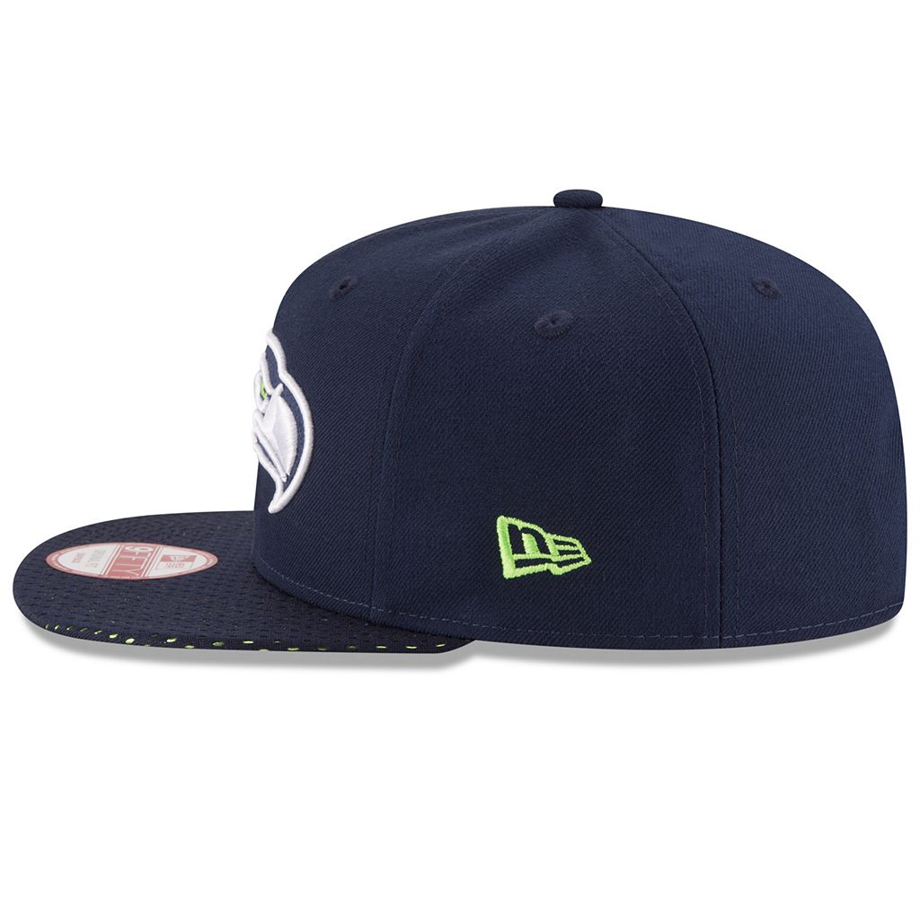 Adult New Era Seattle Seahawks 9FIFTY Shine Through Snapback Cap