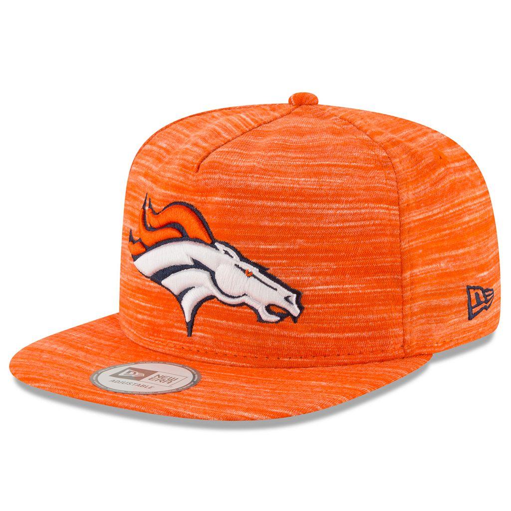Adult New Era Denver Broncos Solid A-Frame 9FIFTY Snapback Cap