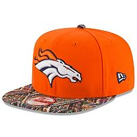 Adult New Era Denver Broncos Tricked-Trim 9FIFTY Snapback Cap