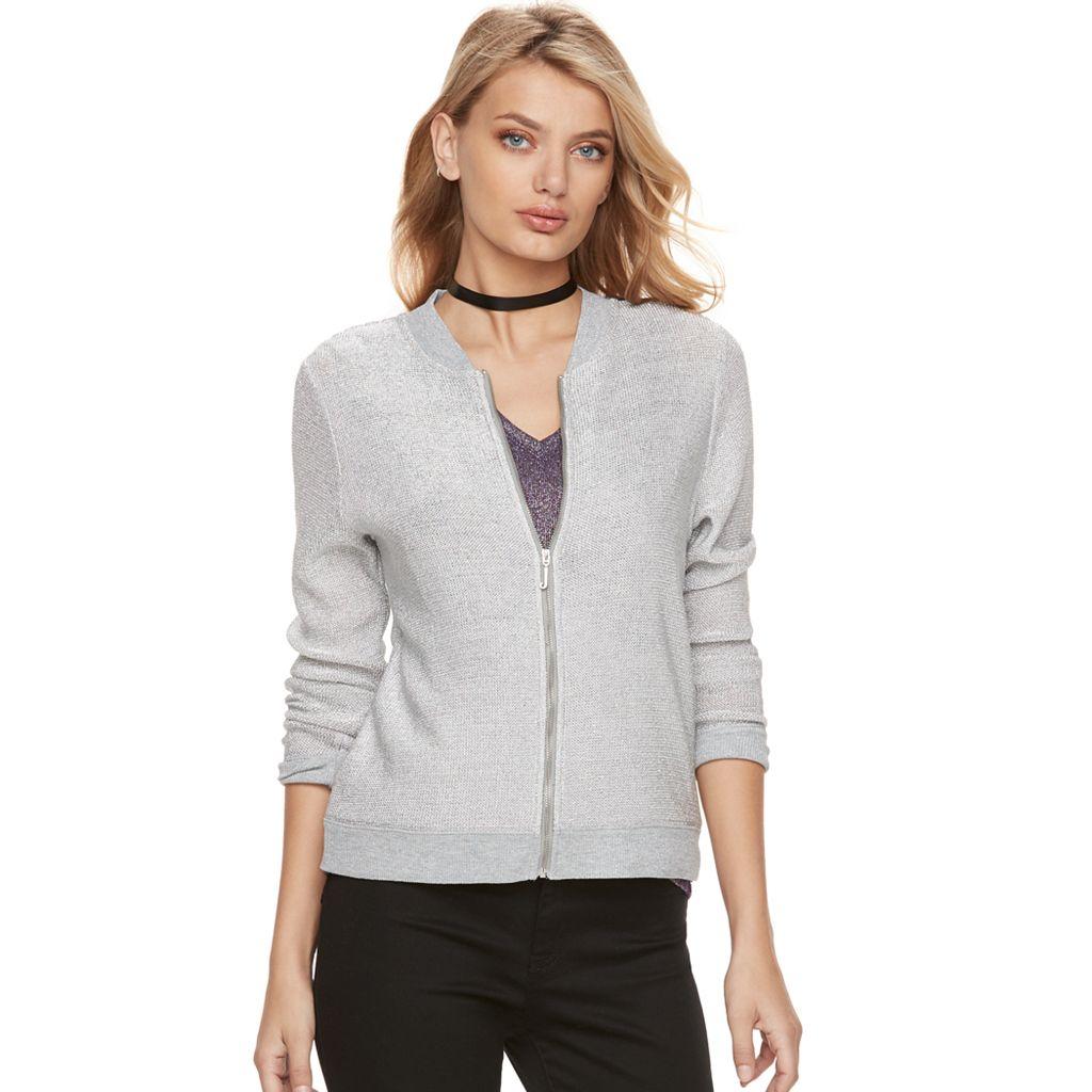 Women's Juicy Couture Metallic Bomber Jacket