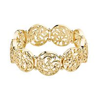 1928 Filigree Disc Stretch Bracelet