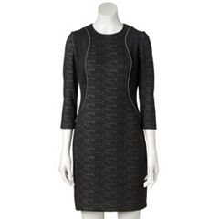 Women's M by Maia Zipper-Detail Sheath Dress