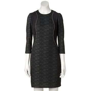 Women's M by Maia Zipper-Detail Sheath Dress
