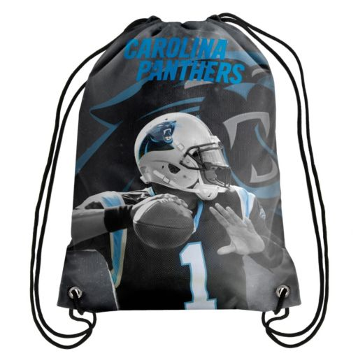 Forever Collectibles Carolina Panthers Cam Newton Drawstring Backpack
