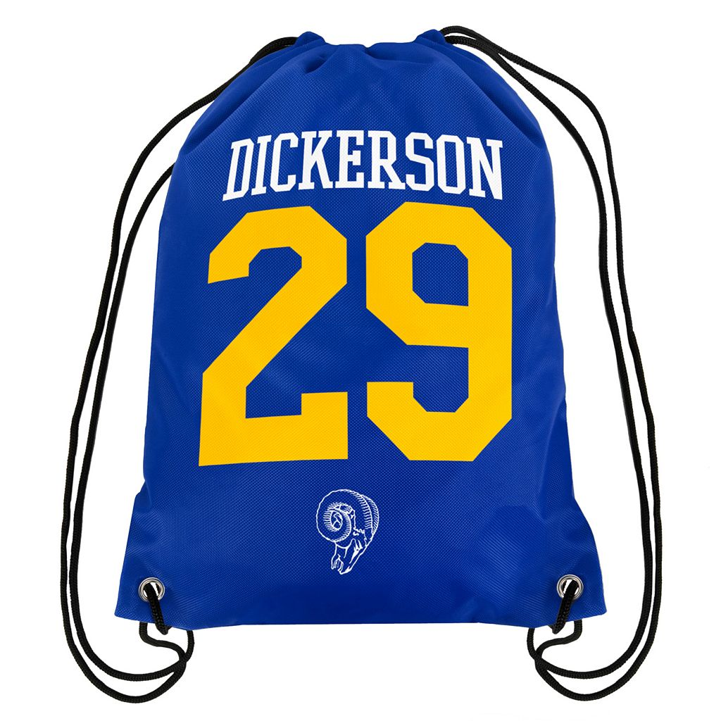 Forever Collectibles Los Angeles Rams Eric Dickerson Drawstring Backpack