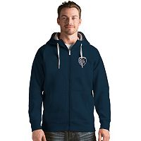 Men's Antigua Sporting Kansas City Victory Full-Zip Hoodie