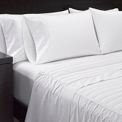Sharper Image 2 pc 370 Thread Count Down Alternative Filled Sheet Set
