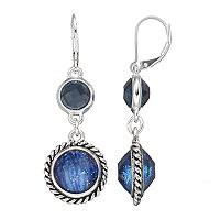 Dana Buchman Blue Double Circle Drop Earrings