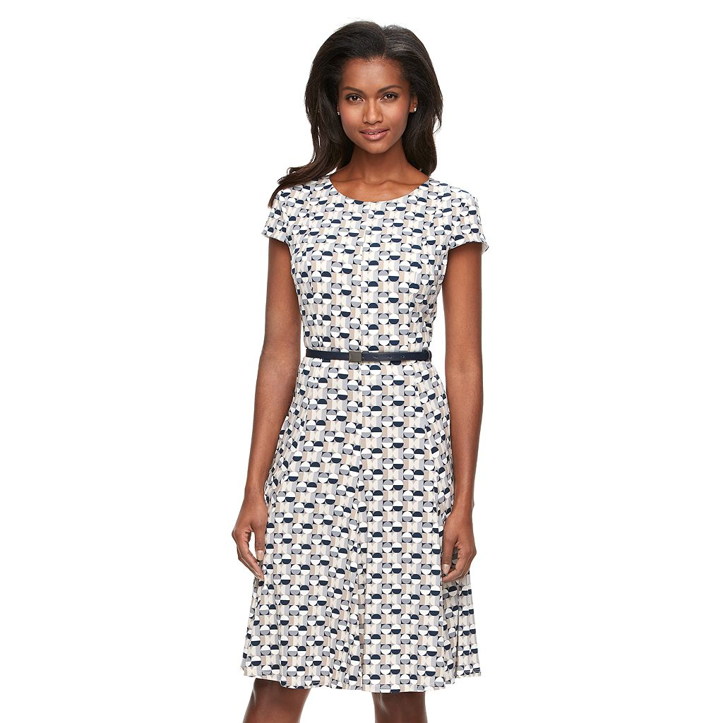 Women's Jessica Howard Geometric A-Line Dress
