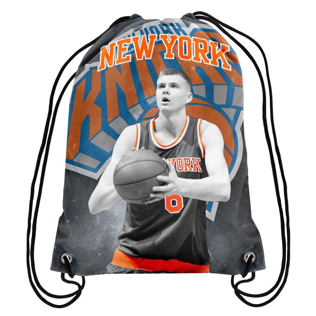 Forever Collectibles New York Knicks Kristaps Porzingis Drawstring Backpack