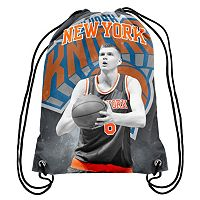 Forever Collectibles New York Knicks Kristaps Porzingis Drawstring Backpack