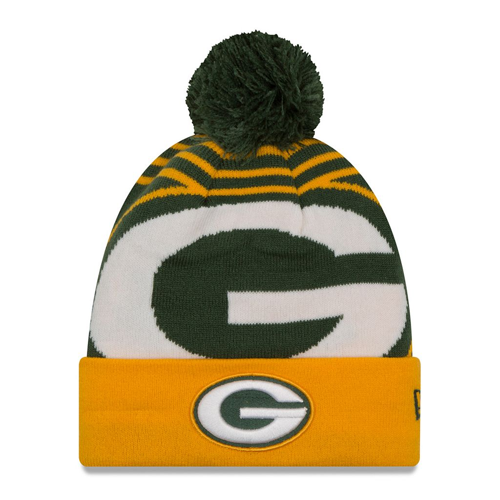 Adult New Era Green Bay Packers Logo Whiz Beanie