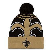 Adult New Era New Orleans Saints Logo Whiz Beanie